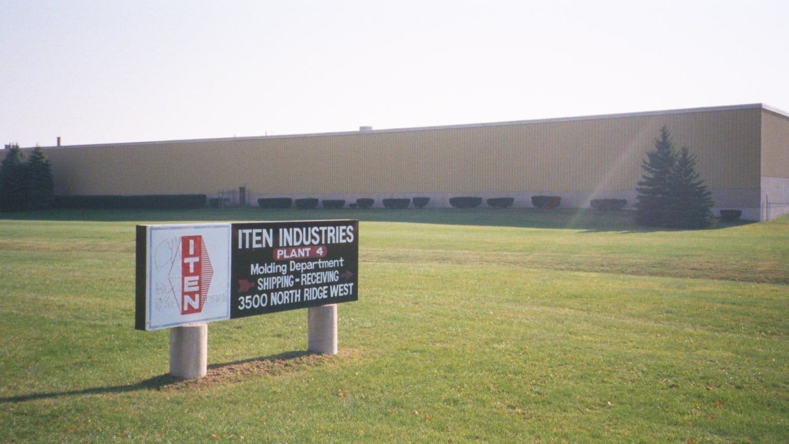 Iten Industries building sign