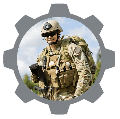 military market gear icon